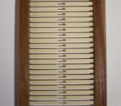 Peigne d'encroie bois et plastique